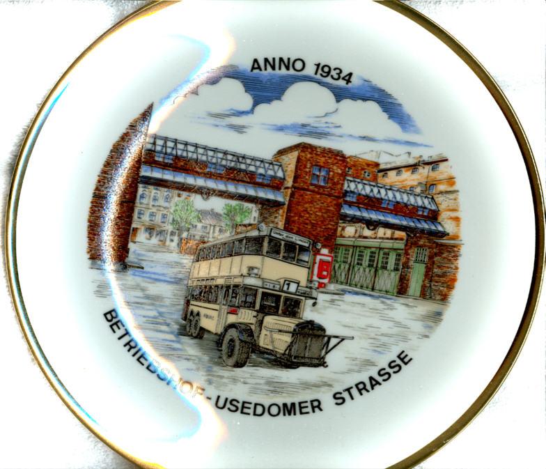 Omnibus-Wandteller BVG,Usedomer Str.