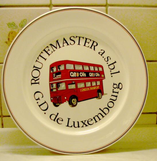 Omnibus-Wandteller 90 Jahre Routemaster -Luxemburg-