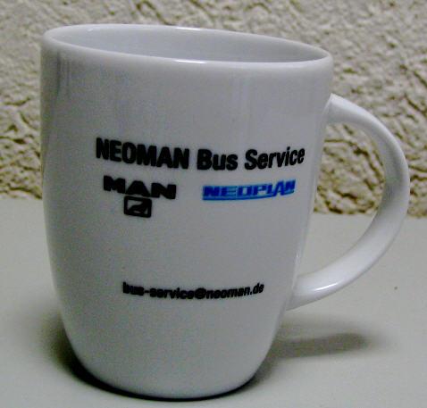 Omnibus-Kaffeetasse Neoman-Bus-Service/MAN
