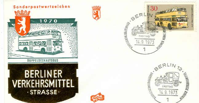 Briefmarken Ersttagsbrief Berliner Verkehrsmittel 1970