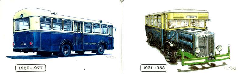 CITY-KAART Letzebuerg Omnibus 1959-1977 + 1931-1953