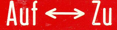 Bus-Klebe-Schilder Auf - Zu