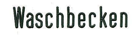 Bus-Klebe-Schilder Waschbecken