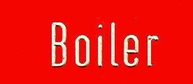 Bus- (Büro) Klebe-Schilder Boiler