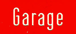 Bus- (Büro) Klebe-Schilder Garage