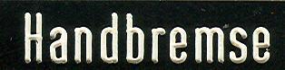 Bus-Klebe-Schilder Handbremse