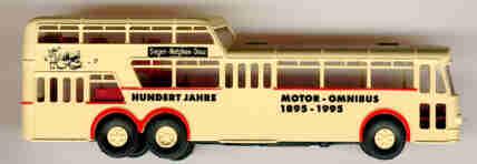 Brekina Büssing 1 1/2D-Bus 100 Jahre Motor-Omnibus 1895-1995