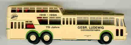 Brekina Büssing 1 1/2D-Bus 75 Jahre Gebr.Ludewig EVAG 3754
