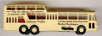Brekina Büssing 1 1/2D-Bus Tag der offenen Tür 1999 OMS RR NH