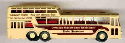 Brekina Büssing 1 1/2D-Bus Tag der offenen Tür 2000 OMS RR NH