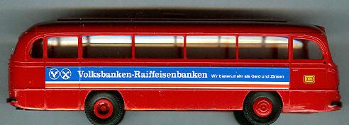 Brekina Mercedes Benz MB O 321 H DB/Volksbanken-Raiffeisenbanken