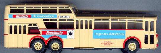 Brekina Mercedes Benz MB O 317 1 1/2-Decker Rheinbahn/Constructa