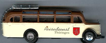 Praline Mercedes Benz MB  O 3500 Reisedienst Thüringen