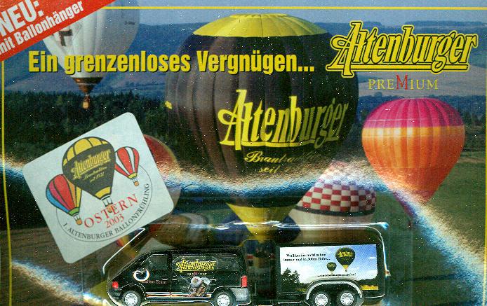 VW-Bus mit Anhänger Altenburger Brauerei