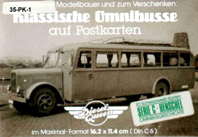 Postkarten Klassische Omnibusse