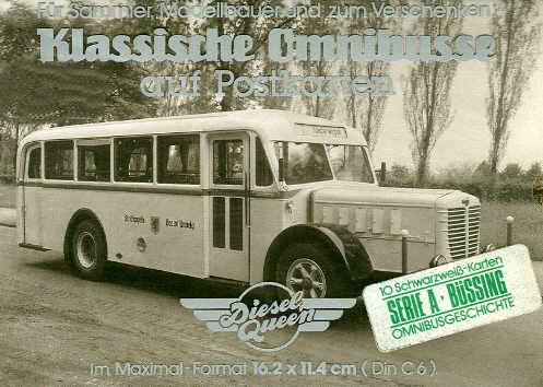 Postkarten Klassische Omnibusse Büssing