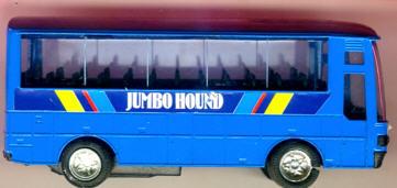 Blech Omnibus-Jumbo-Coach, 12 cm Jumbo Hound
