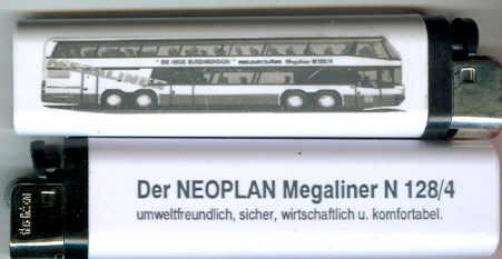 Original-Neoplan Feuerzeug Megaliner