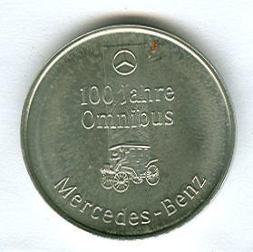 Präge-Medaille 100 Jahre Motor-Omnibus