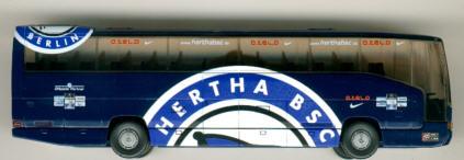 Wiking Mercedes Benz MB O 404 RHD Hertha BSC, Berlin
