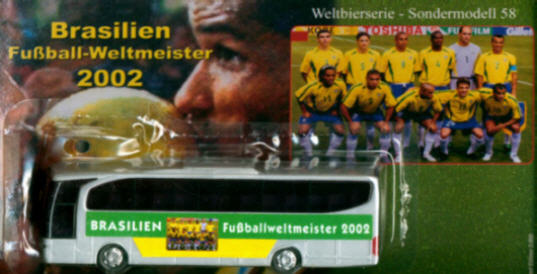 China/W Mercedes Benz MB  Travego Brasilien Fußball-Weltm.2002