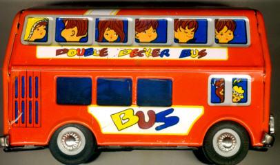 Blech Omnibus DD mit Blitz Double Decker Bus