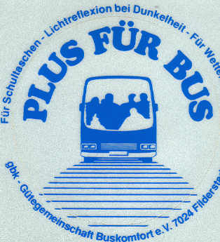 Aufkleber Plus für Bus