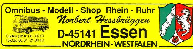 Aufkleber Auto NRW NEOPLAN ND 6      /OMS RR-NH