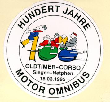 Aufkleber Auto 100 Jahre Motor-Omnibus