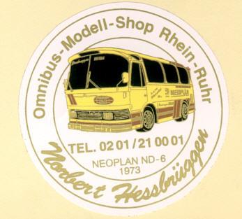 Aufkleber Auto Neoplan ND6/Hessbrüggen