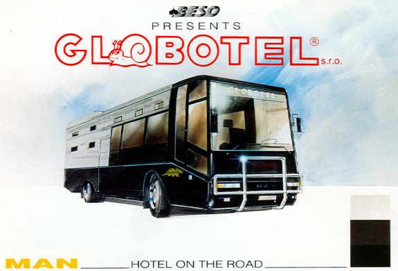 Postkarten Globotel - MAN-Hotelbus