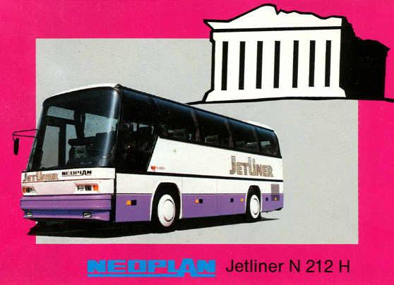 Postkarten Neoplan-Jetliner N 212 H
