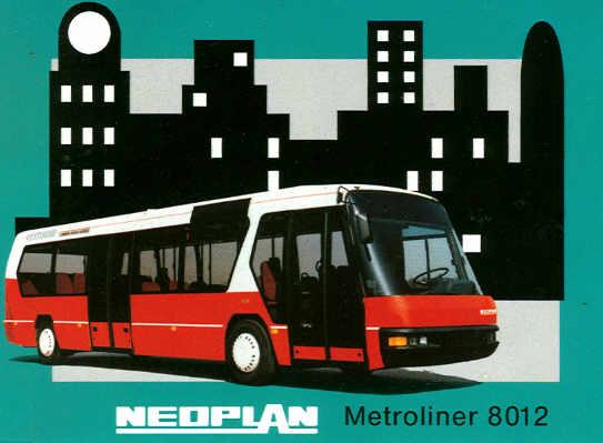 Postkarten Neoplan-Metroliner 8012
