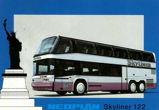 Postkarten Neoplan-Skyliner 122