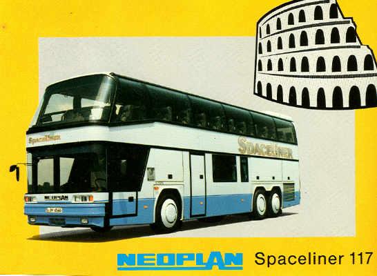 Postkarten Neoplan-Spaceliner 117