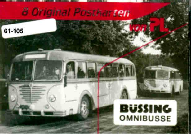 Postkarten Büssing-Omnibusse