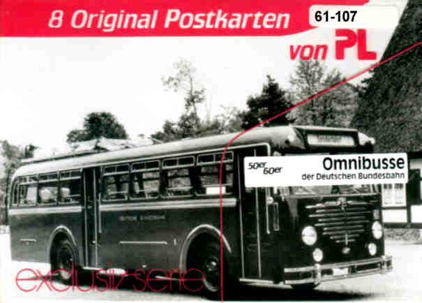 Postkarten Omnibusse Dt. Bundesbahn