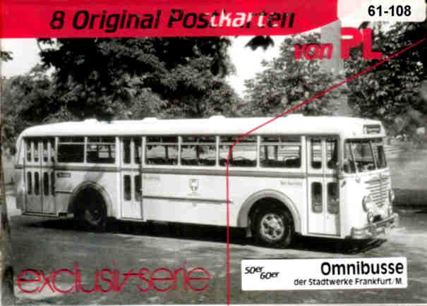 Postkarten Omnibusse Stadtw.Frankfurt/M