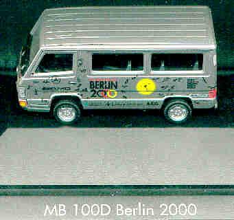 Herpa Mercedes Benz MB  100 Bus / PC Berlin 2000