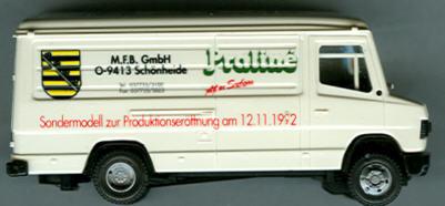 Praline Mercedes Benz MB  507-D (KW) MFB-Schönheide/Sondermodell