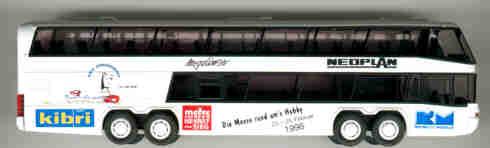 Rietze Neoplan-Megaliner Messe Hennef/Werbung