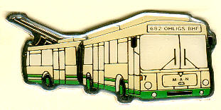 Schlüssel-Anhänger MAN SG 200 AO -  Obus/Solingen