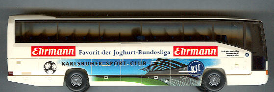 Wiking Mercedes Benz MB O 404 RHD Ehrmann, Karlsruhe FC -Fußball