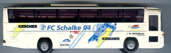 Rietze Mercedes Benz MB O 303 FC Schalke 04, Kärcher -Fußballbus