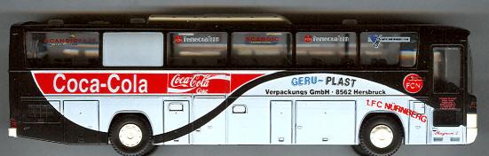 Rietze Mercedes Benz MB O 404 1 FC Nürnberg, Geru-Plast -Fußball