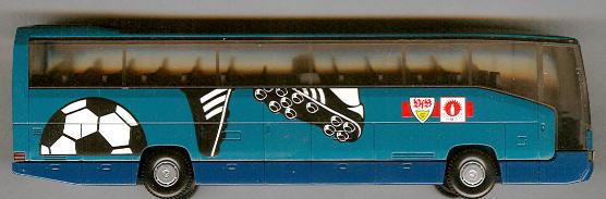Wiking Mercedes Benz MB O 404 RHD VFB, Stuttgart -Fußballbus-
