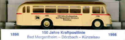 BEKA IFA H6B - Stadtbus 100 J.Kraftpost Mergentheim