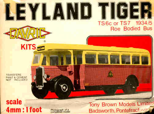 V-Davric Omnibus Leyland Tiger TS6c Roe Bodied Bus