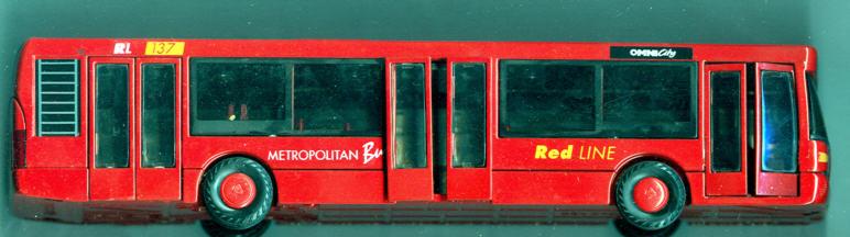 JOAL Scania-Omnicity METROPOLITAN Bus Red LINE