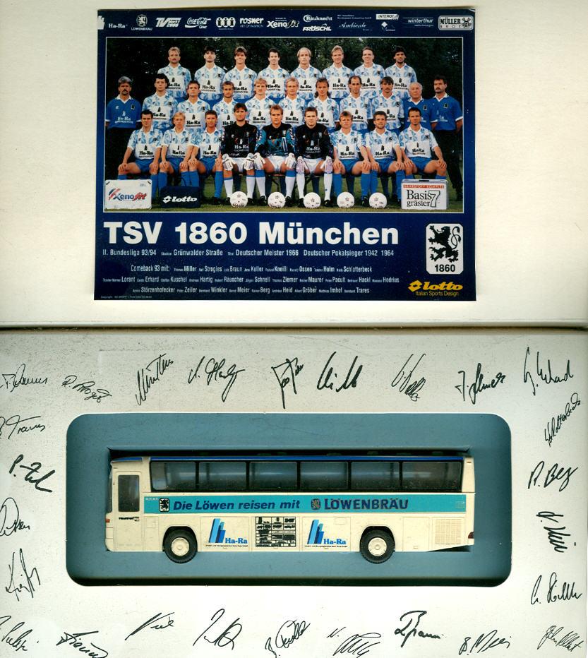 Rietze Mercedes Benz MB O 303 TSV 1860 München